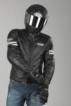 Spidi Ace Leather Jacket Ice-Black