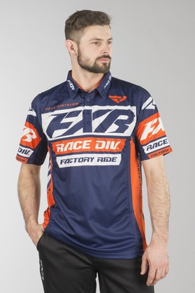 Polotrøje FXR Race Division Tech, Navy/Orange