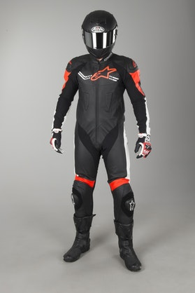 Alpinestars Challenger V2 Leathers Black-White-Red