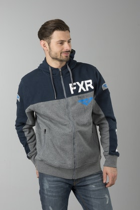 Bluza FXR Ride Co Szara-Ciemno-niebieska