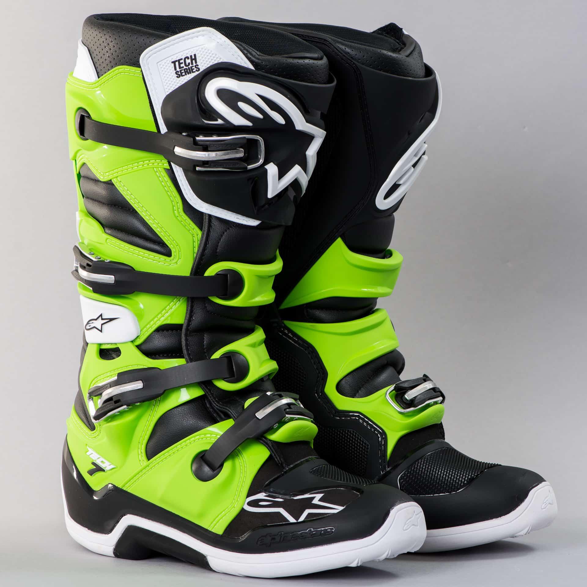 Alpinestars Tech 7 Boots Black-Green