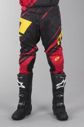 OneIndustries Vapor Lite Side Swipe Motocross Pants Red-Black