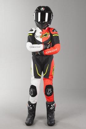Alpinestars GP Plus Kid's Leather Suit Black-White-Fluo Yellow-Red
