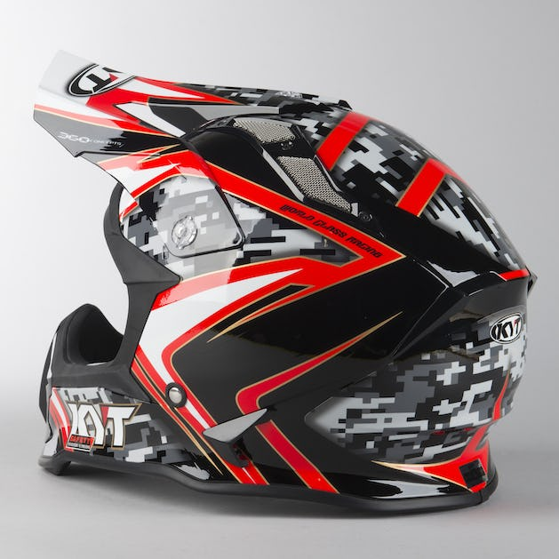 KYT Strike Eagle Reef Integral Helmet Black-Red