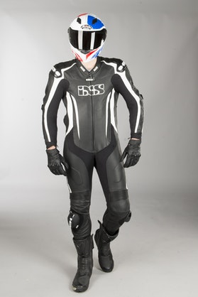 IXS Sport RS-1000 Leather Suit Black-White