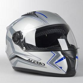 Acerbis Full Face Fs-807 Integral Helmet Silver-Blue