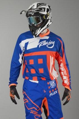 Bluza Cross JT Racing Flex Exbox Niebiesko-FluoPomarańczowa