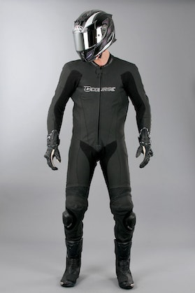 Course Alpha Pro One Piece Leathers - Black