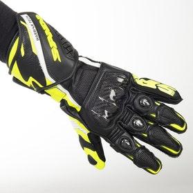Rękawice Spidi Carbo 5 Czarno-Fluorescencyjno Żółte