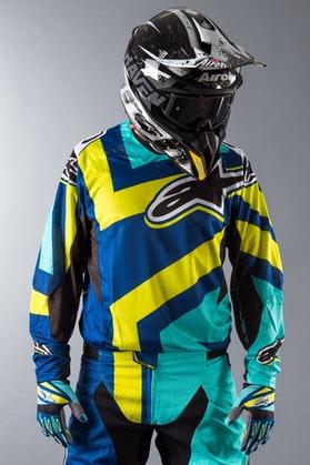 Bluza Alpinestars Techstar Factory niebiesko-turkusowo-limetkowa