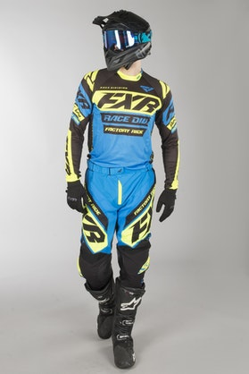 FXR Revo MX Clothes Blue-Black-HiVis