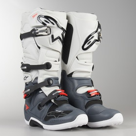 Alpinestars Tech 7 MX Boots White-Grey-Red Fluo