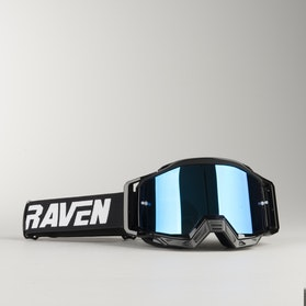 Gogle Cross Raven Sniper Crew Czarno-Niebiesko Lustrzane