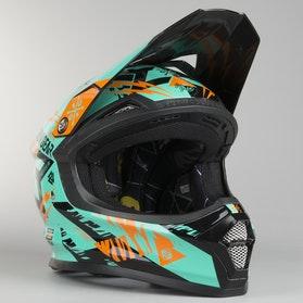 Crossová helma Freegun XP-4 Trooper Dětské Mentolová-Oranžová