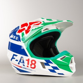 Motokrosová Helma Dětská Fox V1 Sayak Zelená
