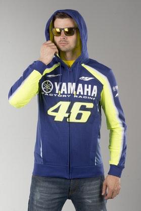 Bluza z Kapturem VR46 Yamaha Dual Niebieska