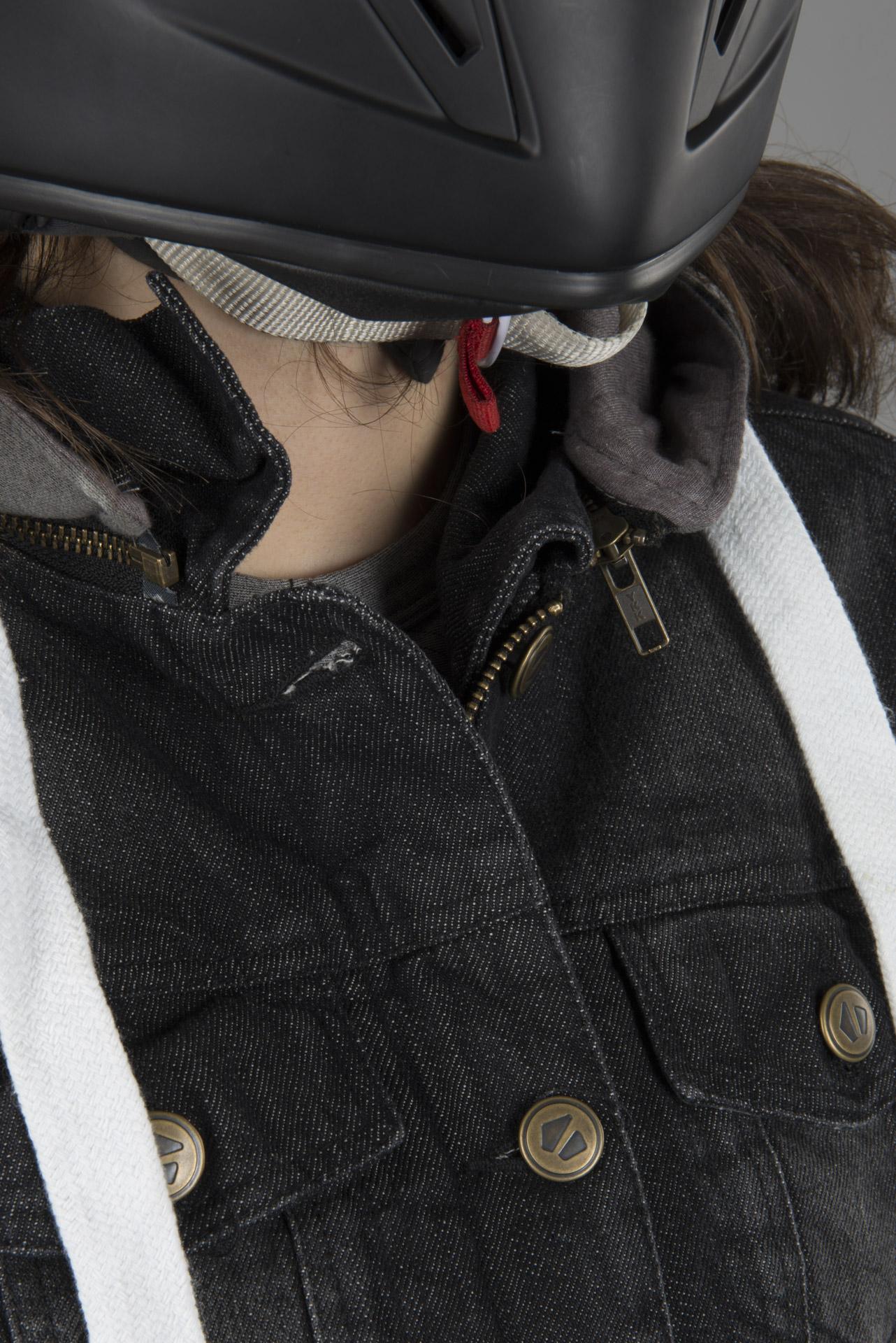 Booster Denim Damer motorcykel hættetrøje