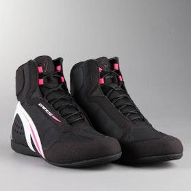 MC-Sko Dainese D1 DWP Dame, Sort/Hvid/Pink