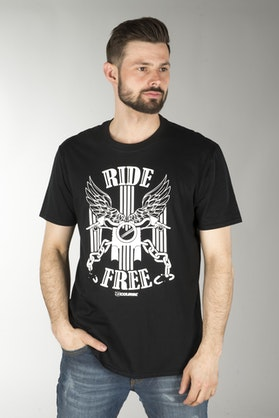 Course Ride Free T-Shirt Black