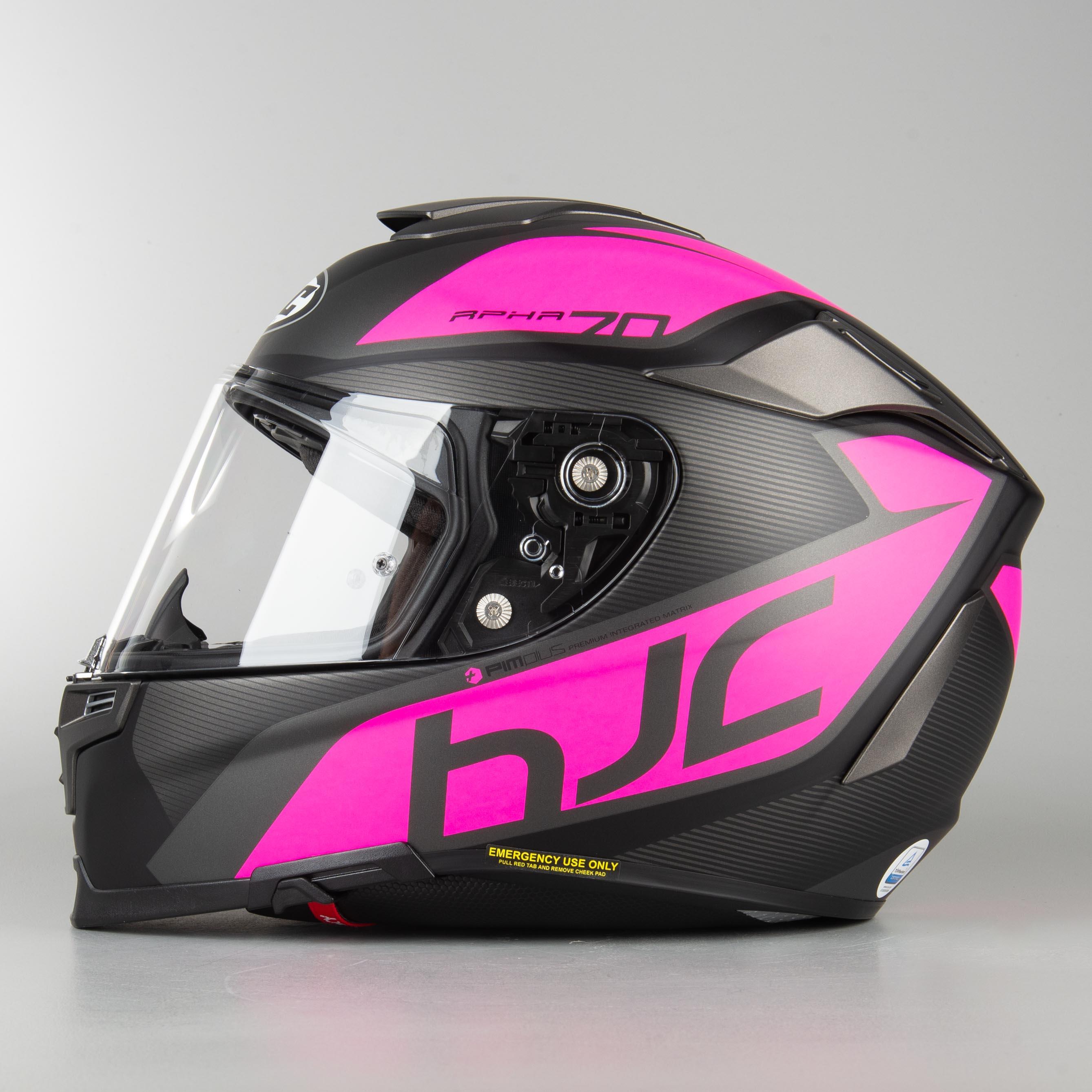 Nero//PINK Casco moto HJC RPHA 70 PINOT MC8SF XS