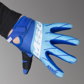 MSR Youth M17 MX Gloves Axxis Cyan-White-Royal Blue