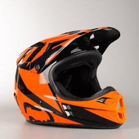 Kask Cross Fox V1 Race Pomarańczowy MX 18