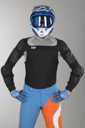 Beskyttelsesærmer Fox Airframe Pro Sleeve CE MX 18, Sort
