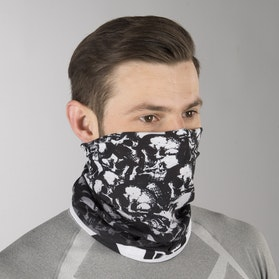 IXS Neck Warmer Black-White