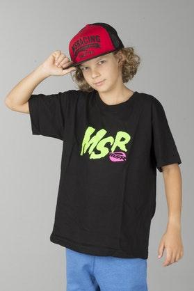 T-Shirt MSR Warped Czarny
