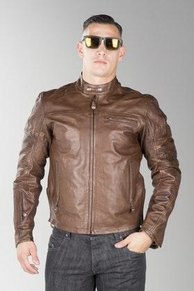 Roland Sands Ronin Leather Jacket Brown