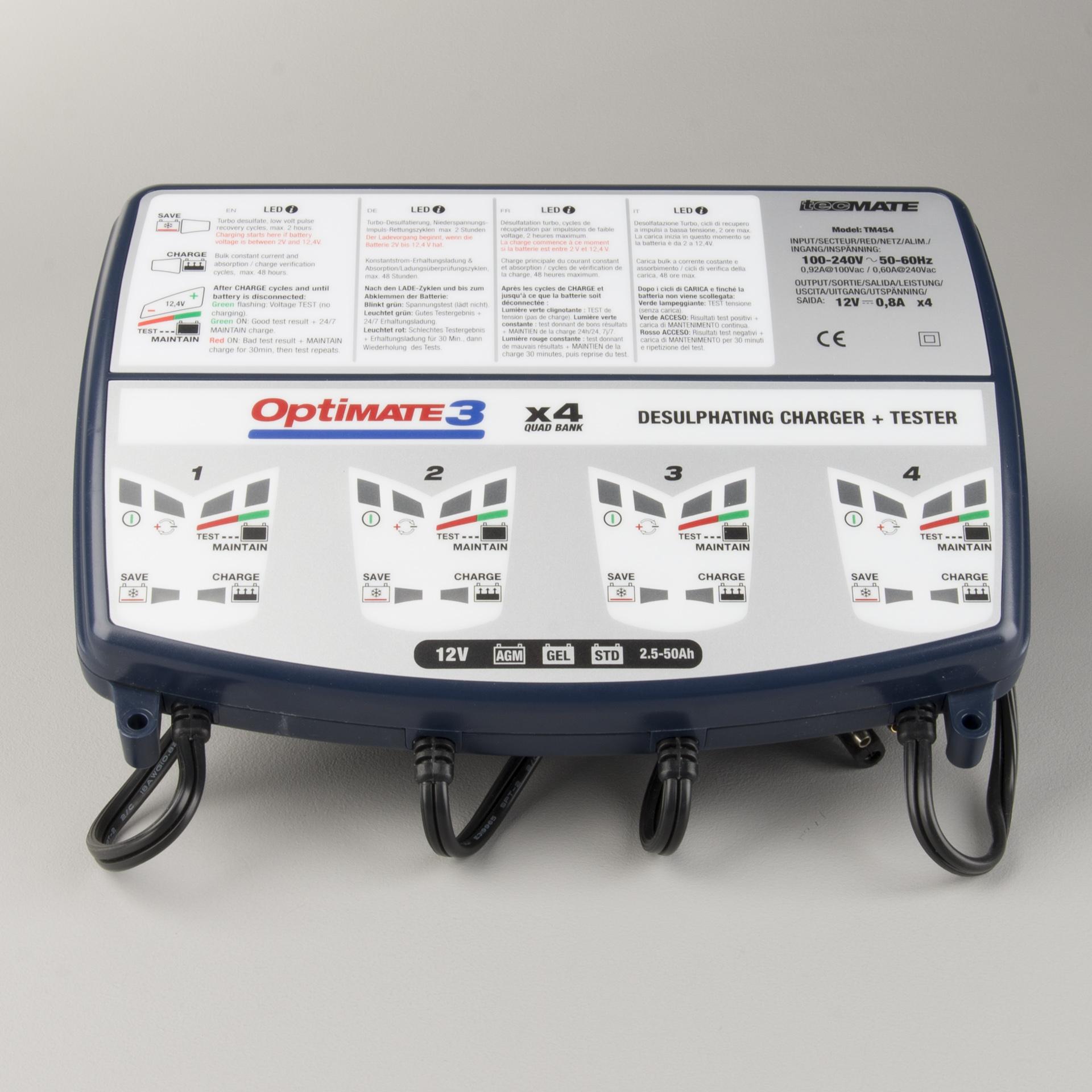 Batterieladegerät TecMate Optimate 4 Tiefpreisgarantie