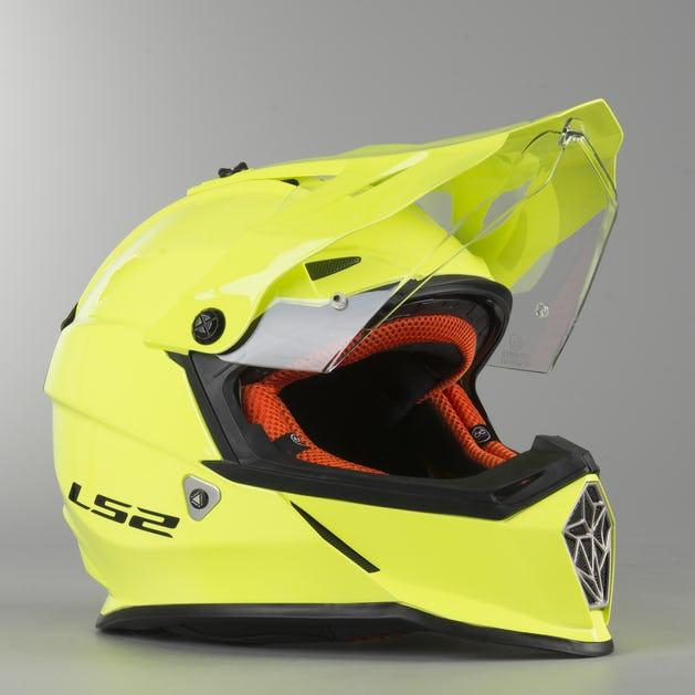 Adventure Helma LS2 MX436 Pioneer Neonově-Žlutá Lesklá