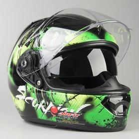 Kask Scorpion EXO-1200 AIR TENEBRIS Czarno-Zielony