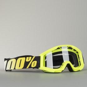 Gogle Cross 100% Junior Strata Żółte Dziecięce