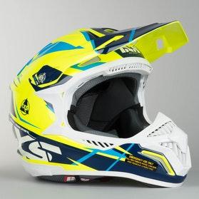 Kask cross IXS HX 179 Flash Żółty-Niebieski