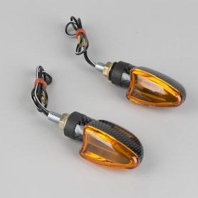 Kierunkowskazy Booster M-3 Mini Carbon Pomarańczowe