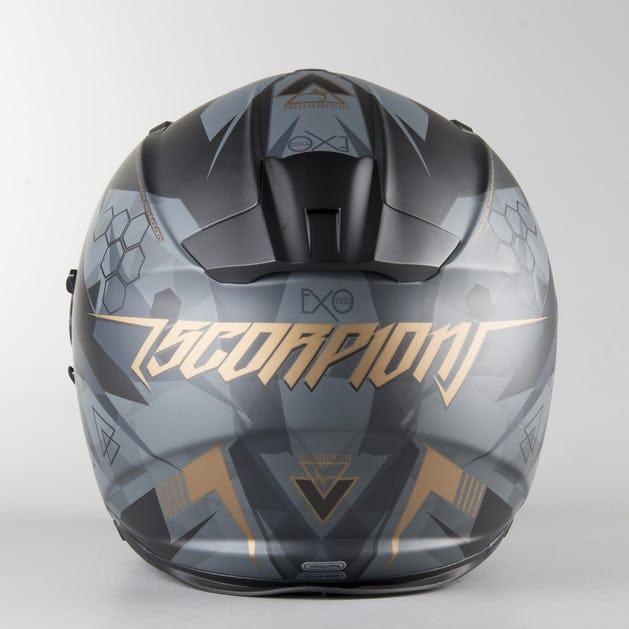 limited guantity premium selection big discount Scorpion EXO-510 Air Cipher Full Face Helmet Matte Black-Gold ...