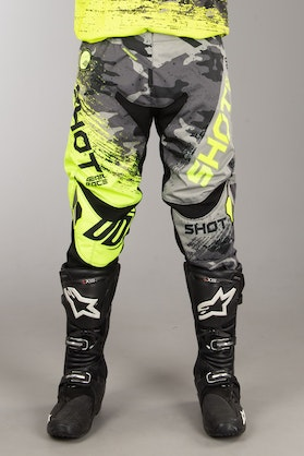 Shot MX Pants Grey-Neon Yellow