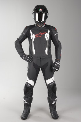 Alpinestars GP Force Leather Suit Black-White 2 Parts