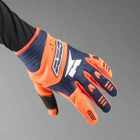 AXO Padlock MX Gloves Orange & Blue