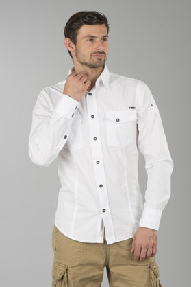 Brandit Slim Men Shirt - White