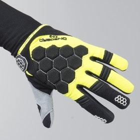 On Board Kid Kx-3 MX Gloves Black-Yellow-Flou