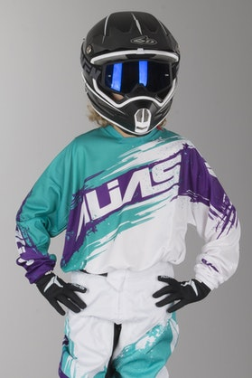 Alias Youth A2 Jersey Brushed White-Aqua