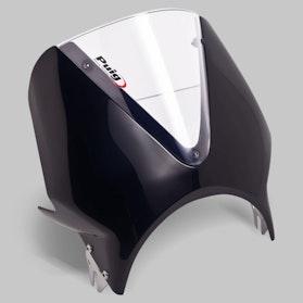 Owiewka Puig Vision Honda Czarna-Przezroczysta