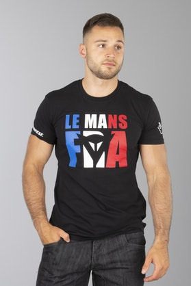 T-Shirt Dainese Le Mans D1 Czarny