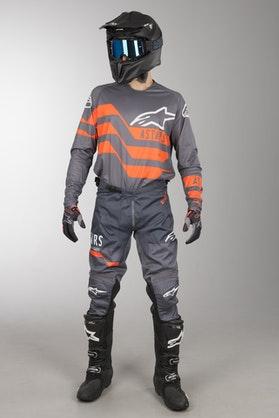 Alpinestars Racer Flagship MX Clothing Kit Grey-Anthracite-Orange Fluo