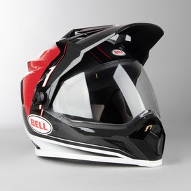 Bell MX-9 ADV Berm Adventure Helmet Black-Red