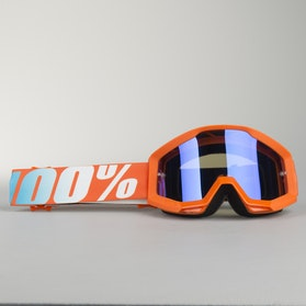 100% Strata Youth Goggles Orange