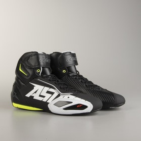 Alpinestars Faster 2 MC Shoes Black-White-Fluo Yellow-Red