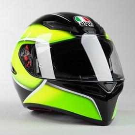 Kask Motocyklowy AGV K1  Czarny Limonkowy